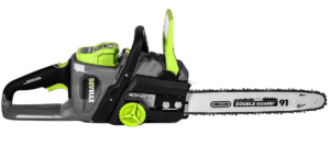 Earthwise corded battery chainsaw