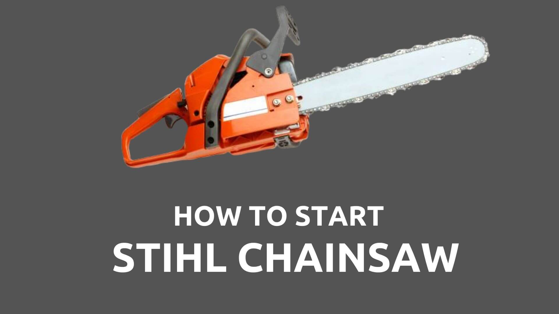 start stihl chainsaw