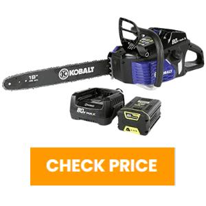 kobalt 80v chainsaw review